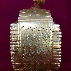 Bracelet ancien argent niéllé d or Inde