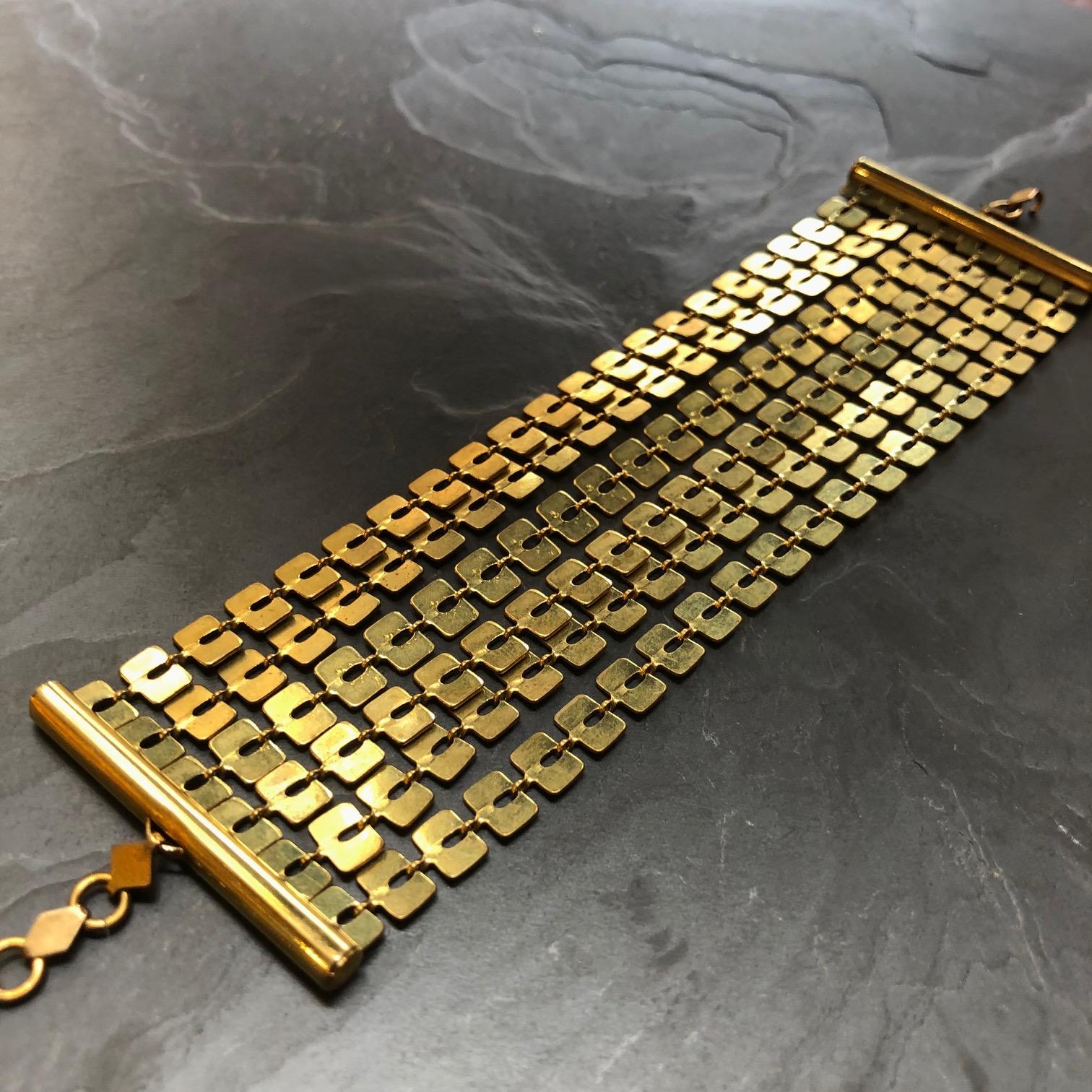 bracelet manchette souple large artisanale paris