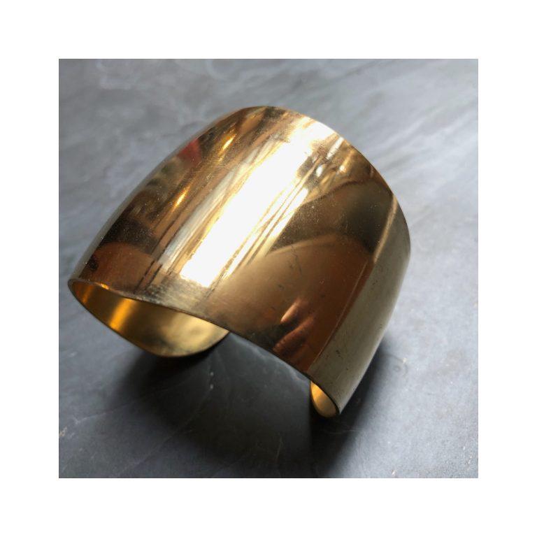Bracelet manchette artisanal en laiton paris